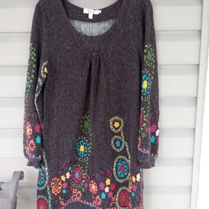 Boho-Style Sweater Dress ~ XL